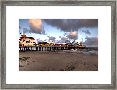 Galveston Island Historic Pleasure Pier Framed Print
