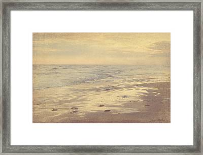 Galveston Island Sunset Seascape Photo Framed Print by Svetlana Novikova