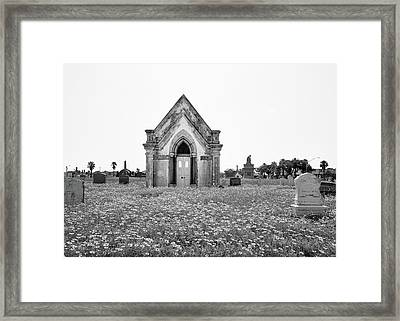 Galveston Old City Cemetery Framed Print by Steven Michael