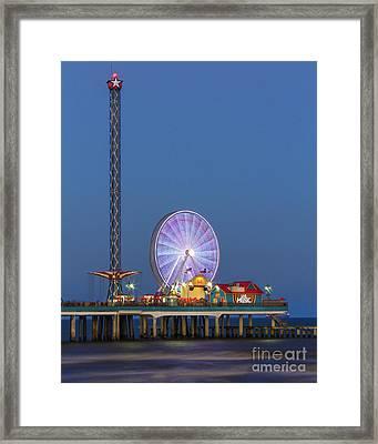 Galveston Pier  Framed Print