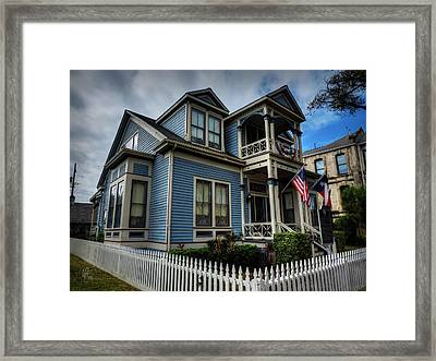 Galveston - Powhatan And Mattie Wren House 001 Framed Print by Lance Vaughn