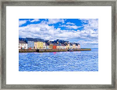 Framed Print featuring the photograph Galway On The Water by Mark E Tisdale