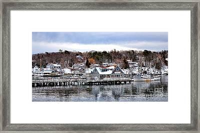 Gamage Shipyard In Winter Framed Print by Olivier Le Queinec