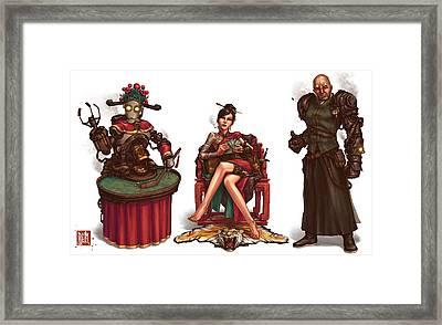 Gambling Den Concept Framed Print by James Ng