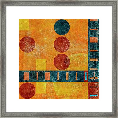 Game Board Number 1 Framed Print by Carol Leigh
