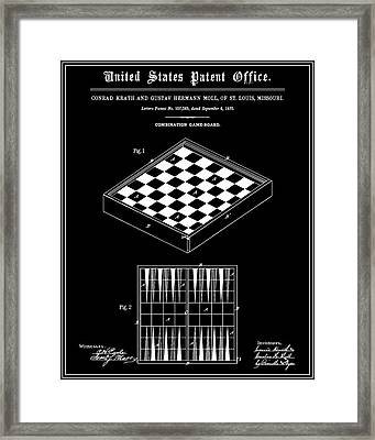 Game Board Patent - Black Framed Print