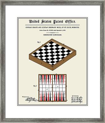 Game Board Patent Framed Print