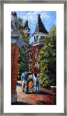 Game Day At Auburn Framed Print by Carole Foret
