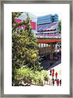 Game Day In Athens Framed Print by Parker Cunningham