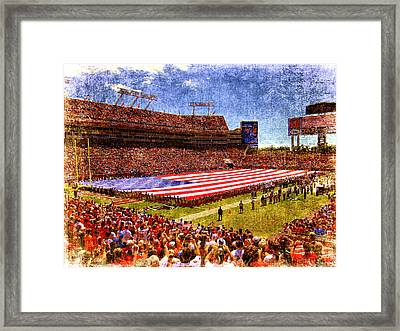 Game Day Nine Eleven Tribute Framed Print by Andrew Armstrong  -  Mad Lab Images