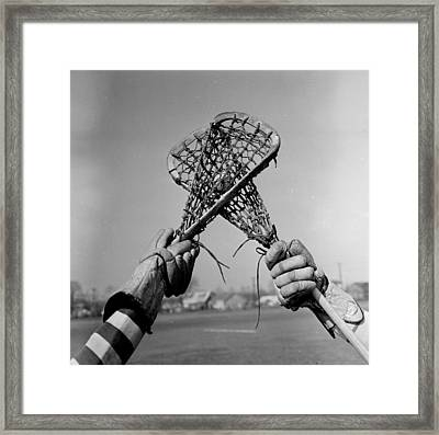 Game In Play Framed Print