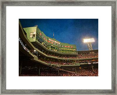 Game Night Fenway Park - Boston Framed Print by Joann Vitali