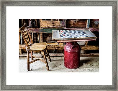 Game Of Checkers Framed Print by M G Whittingham