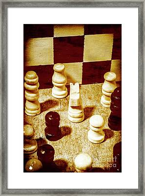 Game Of Chess And Tactics Framed Print