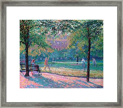 Game Of Tennis Framed Print