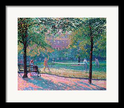 Park Benches Framed Prints