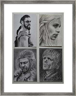Game Of Thrones Group Framed Print by Lynn Hughes