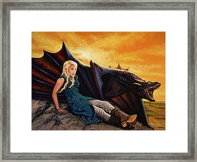 Game Of Thrones Painting Framed Print by Paul Meijering