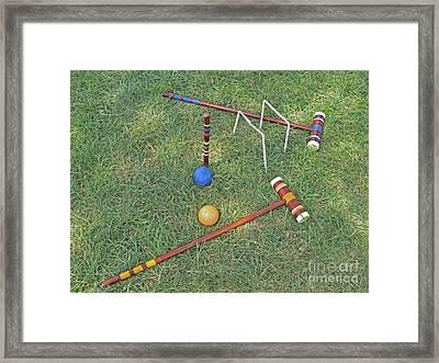 Game Over Framed Print by Ann Horn