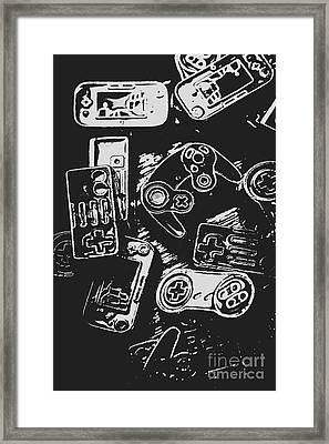 Game Play In Blocks And Lines Framed Print