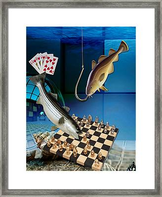 Game Playing Framed Print