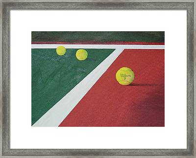 Game Set Match Framed Print