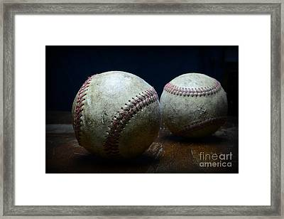Game Used Baseballs Framed Print by Paul Ward