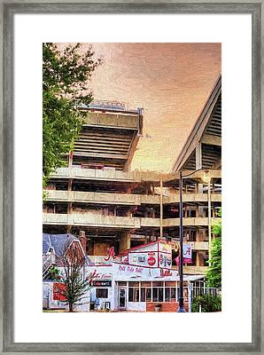 Gameday At Bryant Denny Framed Print by JC Findley
