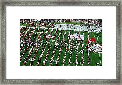 Gameday Run On Field Framed Print by Kenny Glover