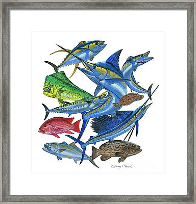 Gamefish Collage Framed Print