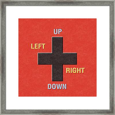 Gamer Directions Framed Print
