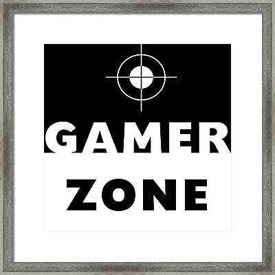 Gamer Zone- Art By Linda Woods Framed Print