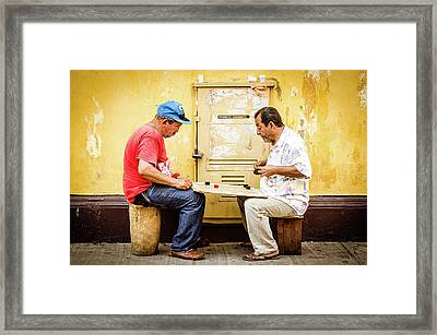 Gamers Framed Print by Michael Weber