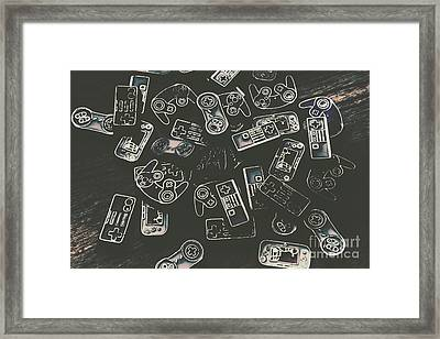 Gamers Of Arcade  Framed Print