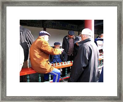 Framed Print featuring the photograph Games In China by Marti Green