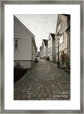 Gamle Stavanger Framed Print by Anne Gilbert