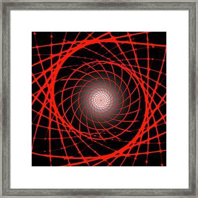 Gamma Ray Burst Abstract Framed Print