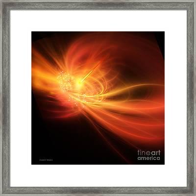Gamma Ray Burst Framed Print