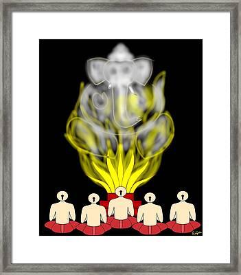 Ganapati Homam Framed Print