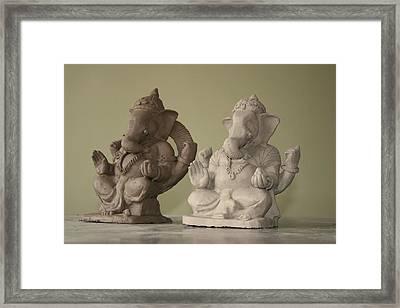 Ganapati Idols Framed Print by Mandar Marathe