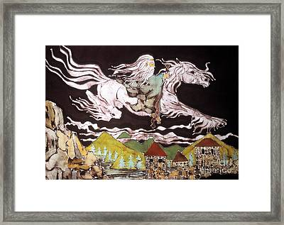 Gandalf And Shadowfax Framed Print