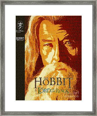 Gandalf The Lord Of The Rings Book Cover Movie Poster Art 1 Framed Print by Nishanth Gopinathan