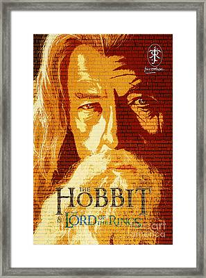 Gandalf The Lord Of The Rings Book Cover Movie Poster Art 2 Framed Print