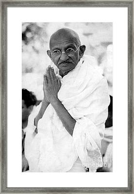 Gandhi Framed Print by Indian School