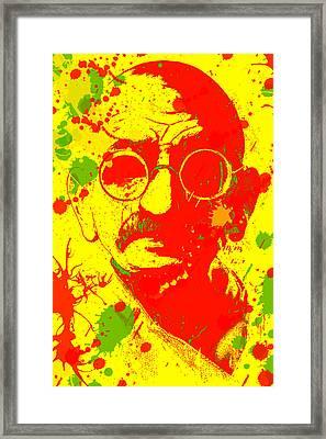 Gandhi Splatter Framed Print