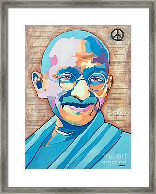 Gandhi Framed Print by Venus