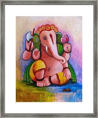 Ganesh 3 Framed Print by Rupa Prakash