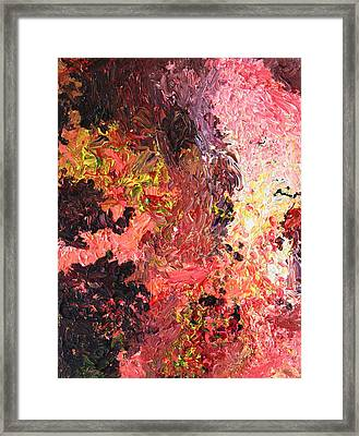 Ganesh In The Garden Framed Print