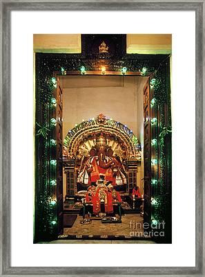 Framed Print featuring the photograph Ganesh Shrine by Granger