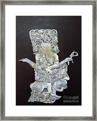 Framed Print featuring the painting Ganesh The Elephant God by Eric Kempson